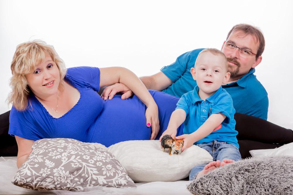 LINDA, MARTIN A PEPÍČEK – těhotenské focení